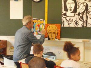 rencontre en classe portrait sur bois avancé jpg
