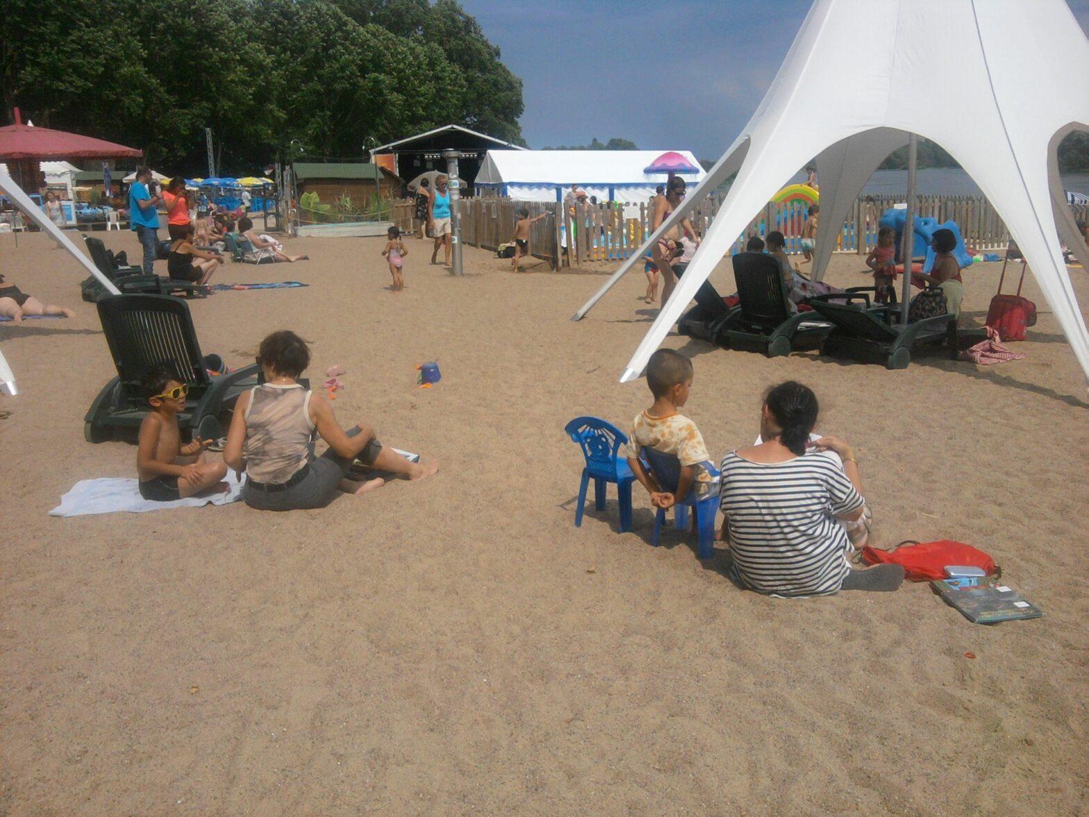 Des lectures à la plage de Beaugency