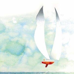 Je serai cet humain qui aime et qui navigue, texte de Franck Prévot, illustrations de Stéphane Girel