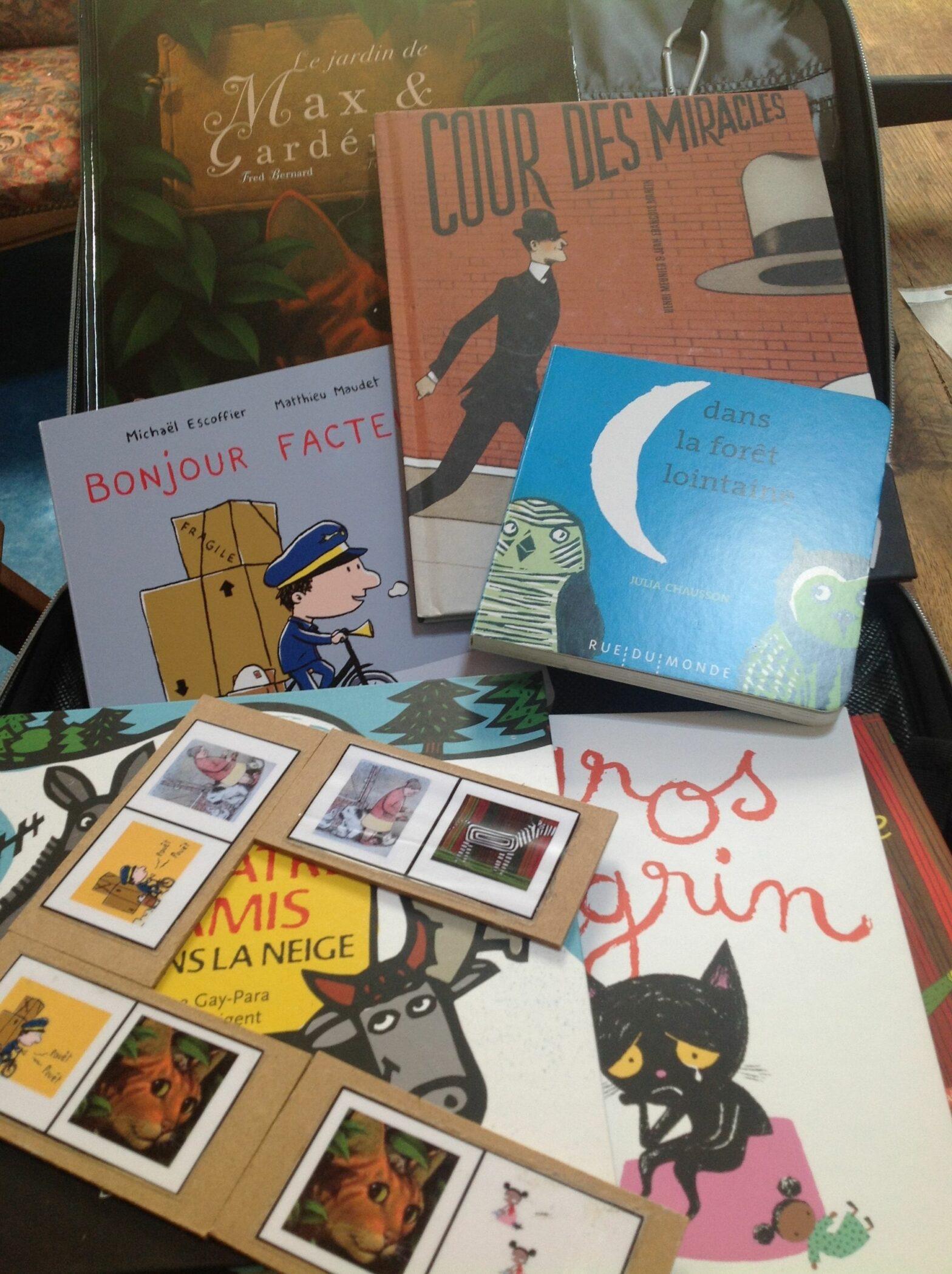 Le voyage des p'tites valises de livres